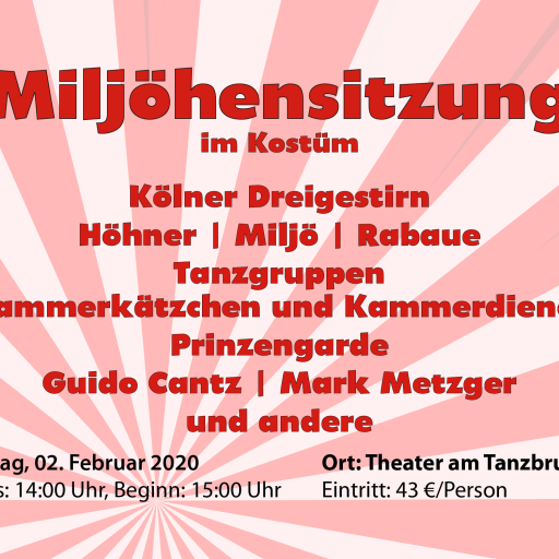 Miljöhensitzung Theater am Tanzbrunnen